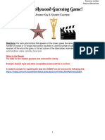 00 answer key 2fstudent example - the hollywood guessing game