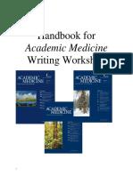Handbook for Academic Medicine Writing Workshop