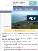 Ch-3 Geometric Design of Highways