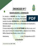 COMUNICADO 007 Reunion Informativa