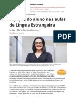 o Papel Do Aluno Nas Aulas de Lingua Estrangeira