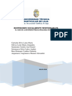 Ánalisis de Las Inversiones Socialmente Responsables