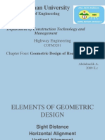 Chapter 4-Geometric Design Ppt