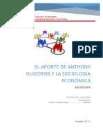 Aporte de Anthony Guiddens a La Sociología