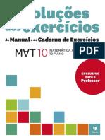 Resoluções dos exercícios do Manual e do Caderno de Exercícios _10