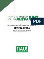 Programa CT Javiera Cerpa Comercial