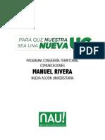 Comunicaciones - Manuel Rivera