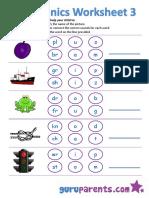 Phonics Worksheet 3