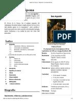 Agustín de Hipona - Wikipedia, la enciclopedia libre.pdf