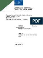 Análisis Ley de Servicio Civil