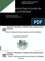 Present. - Unidad IV - Mantenimiento Industrial - Tema 1 y 2