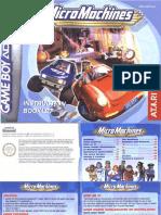 Micro Machines - Manual - GBA
