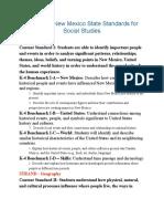 4th grade social studies standards pdf