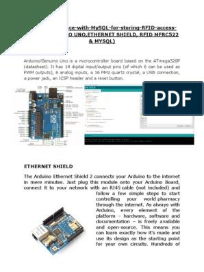Rfid Logger With Mysql Database   Arduino   Digital & Social