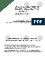 Importancia Del Laboratorio de Microbiologia