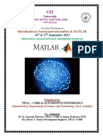 Two Day Workshop on Introduction to Neural Network Toolbox & MATLAB-17