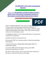 UNIT V ARTICLE REVIEW / TUTORIALOUTLETDOTCOM