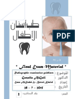 #1 - PEDO Final - Radiographic Examination & Caries Risk Assessment
