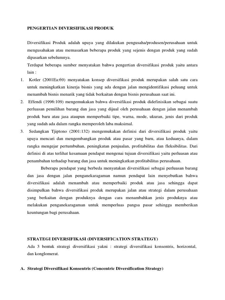definisi strategi diversifikasi produk best online trading indonesia