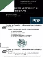 Present. - Unidad IV - Mantenimiento Industrial - Tema 3 y 4