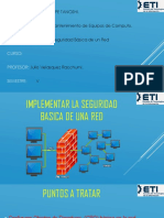 Implementcion de Seguridad