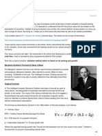 Benjamin Graham Formula Valuation for GADANG