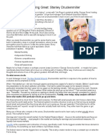 Lessons From a Trading Great - Stanley Druckenmiller