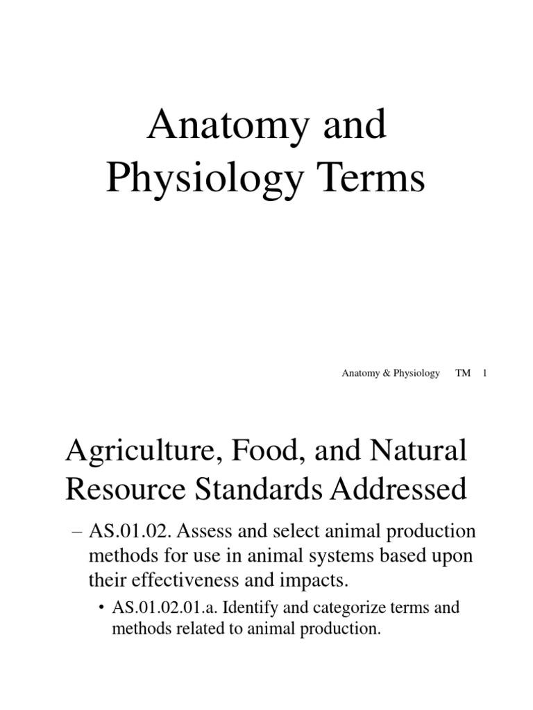 Bonito Anatomy And Physiology Standards Bandera - Anatomía de Las ...