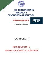 TERMODINAMICA - Introuccion a Manifestaciones d Energia