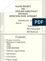 Display of Underground Cable Fault Distance Over Internet Seminar Presentation