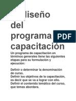 El Diseño Del Programa de Capacitación
