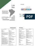 Programação Do Iº Encontro Sul-Americano de Psicologia Política