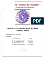 Informe Turbina Pelton UNI-FIM