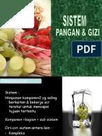 Sistem Pangan & Gizi