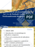 Las Estadísticas Medioambientales en La C.a. de Euskadi
