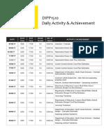 complete daily activity  achievement log