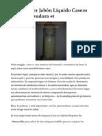 Cómo hacer Jabón Líquido Casero Para La Lavadora #1 | Natural y Creativo