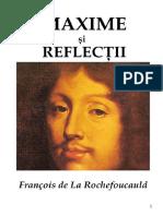 Maxime Si Reflectii - Francois de La Rochefoucauld