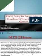 Pass your EMC E20-329 Exam With (Realbraindumps.com)