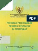 2008_KepMenKes RI Nomor 585MENKESSKV2007 Pedoman Pelaksanaan Promosi Kesehatan Di Puskesmas.pdf