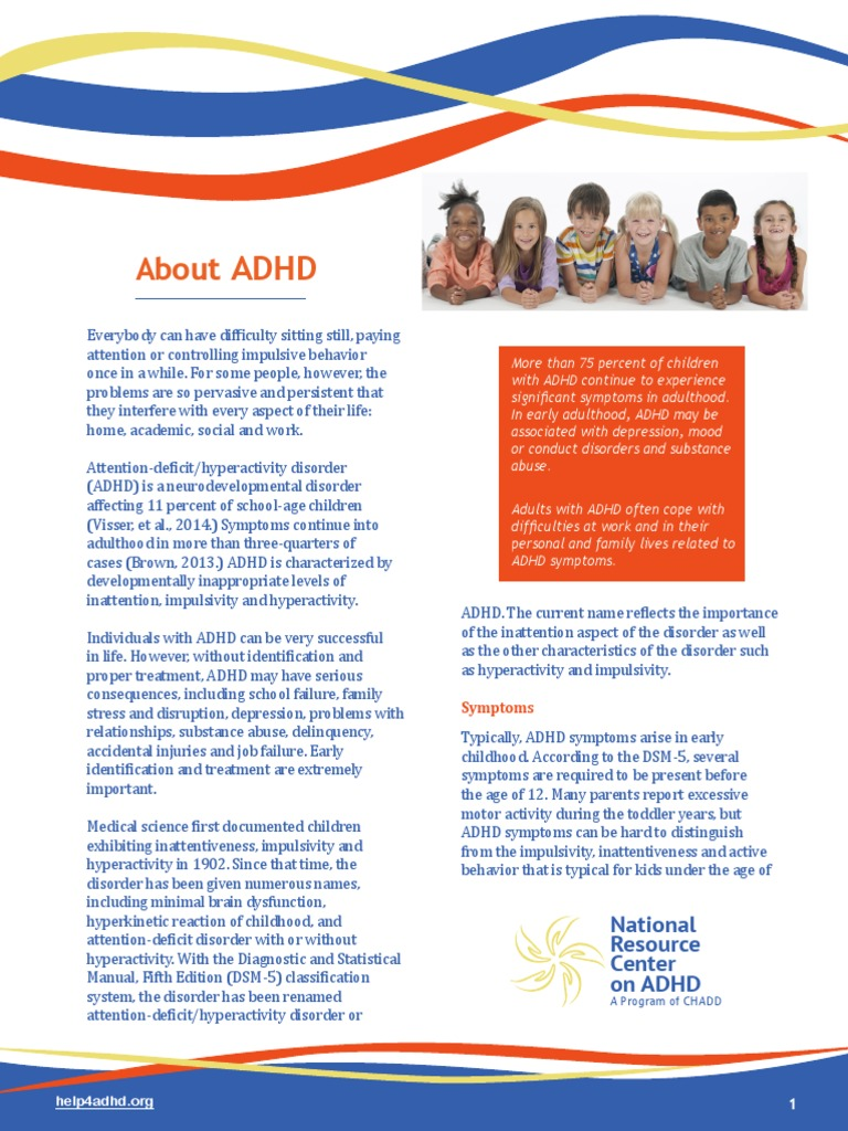 Attention Problems In Early Childhood >> Descriere Adhd Attention Deficit Hyperactivity Disorder Medical