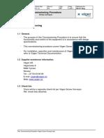 Commissioning Procedure Vagen Screw Conveyor With Check List