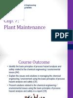 CEV653-Lecture 7a_Plant Maintenance