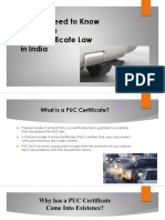 All You Need to Know About PUC Certificate Law in India