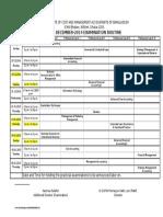CMA Dec-14 Exam Rutine