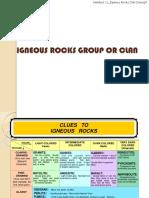 Kuliah 11 Igneous Rocks Clan