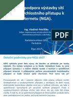 Prezentace Vladimíra Petržílky k dotačním výzvám na budování sítí NGA