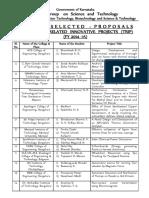 TRIP Selected List (2014-15)