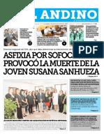 Diario El Andino de Los Andes, Chile 10-03-2017 Asfixia Por Sofocación Provocó La Muerte de La Joven Susana Sanhueza.