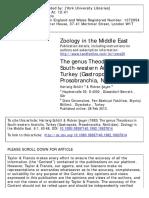 The Genus Theodoxus in Turkey
